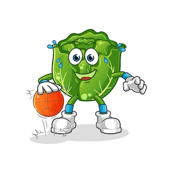 Cabbage dribble basketball character