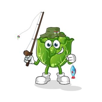 Cabbage fisherman illustration