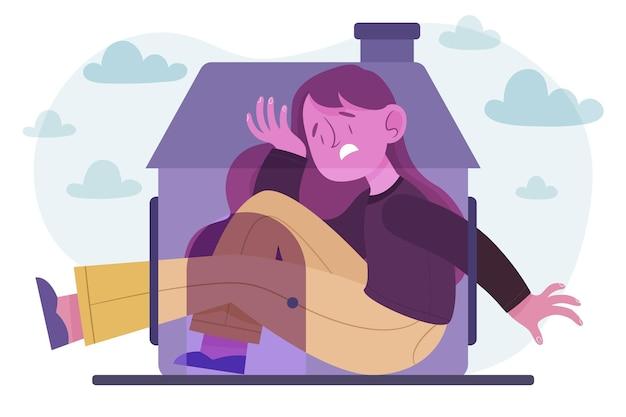 Концепция иллюстрации кабина