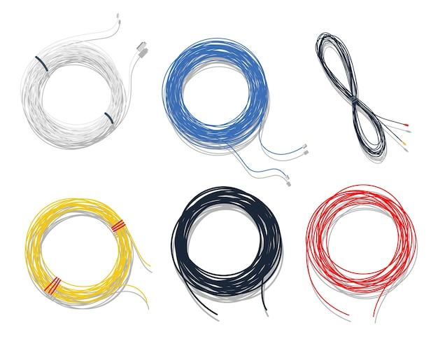 Комплект кабеля с видом сверху