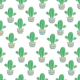 サボテンのシームレスパターン