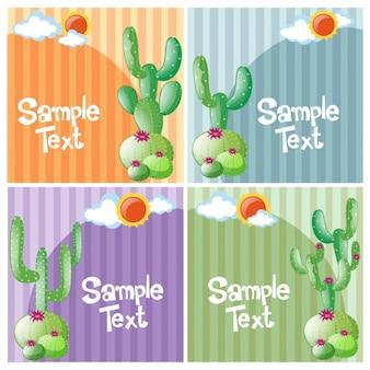 Коллекция кактусов фоны