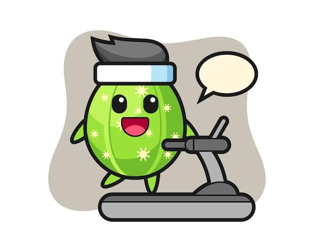디딜 방 아에 걷는 선인장 만화 캐릭터