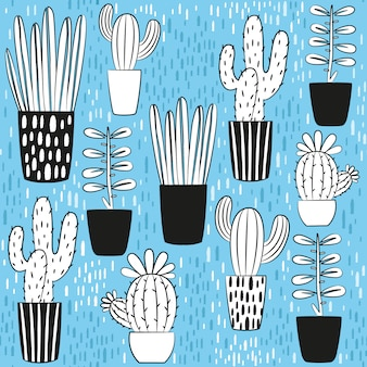 Cactus design collection