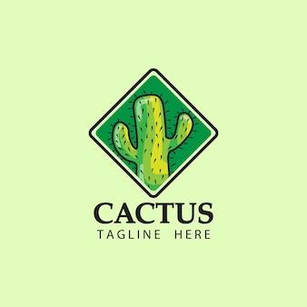 Дизайн шаблона логотипа кактус