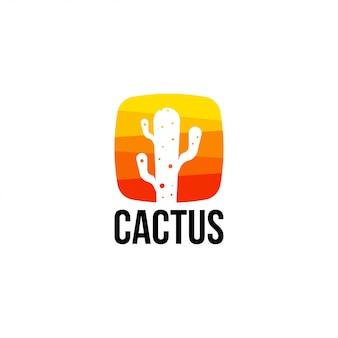 Cactus logo vector template