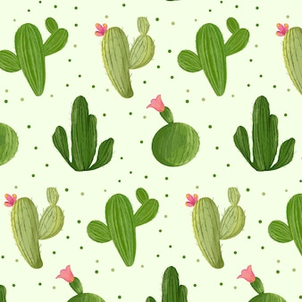 Cactus pattern collection concept