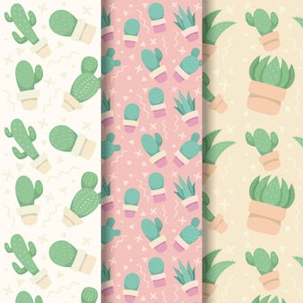 Cactus pattern collection theme