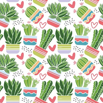 Cactus pattern set theme