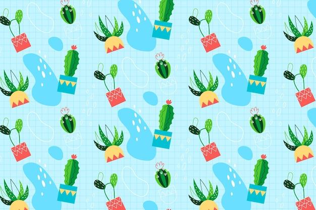 Cactus pattern theme