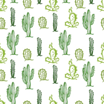 Cactus seamless color background