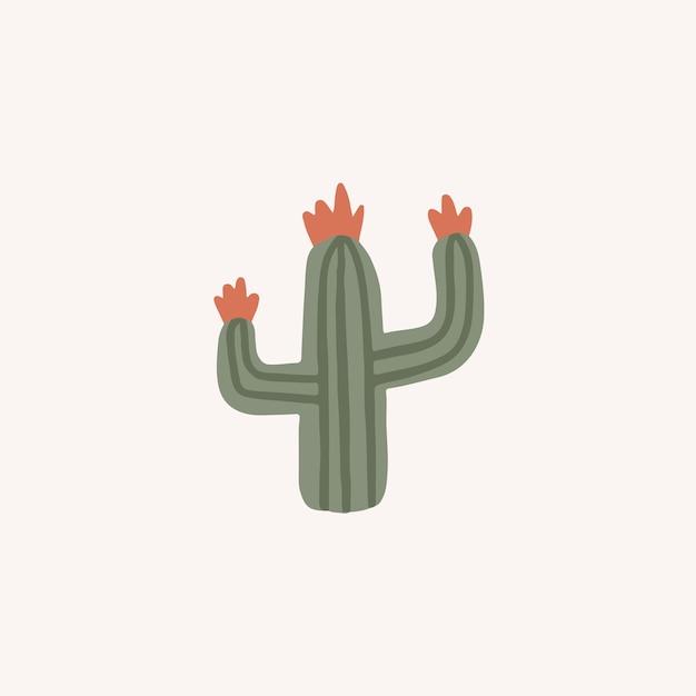 ソーシャルメディアのポストベクトル図のサボテンシンボルエキゾチックな植物
