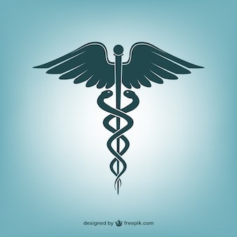 Caduceus medical care icon vector