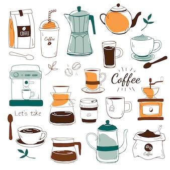 카페와 커피 하우스 패턴 벡터
