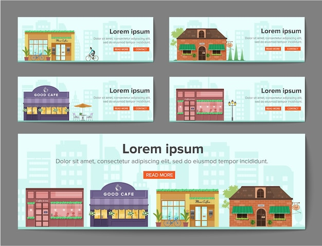 Cafe banners template