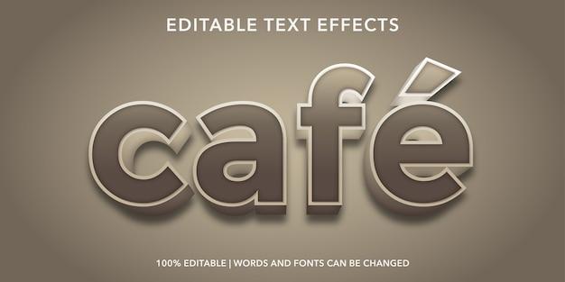 Cafe editable text effect