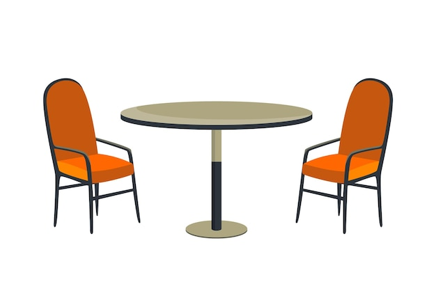 Cafe and garden furniture table and chair isolated on a white background