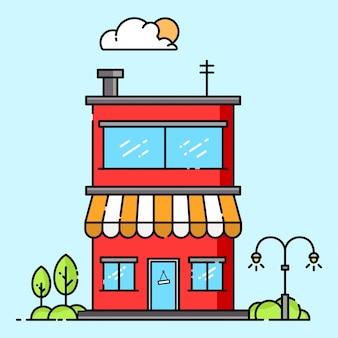 Cafe illustration design
