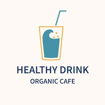 カフェのロゴ、ブランディングデザインベクトルの食品ビジネステンプレート