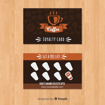 Cafe loyalty card with modern style