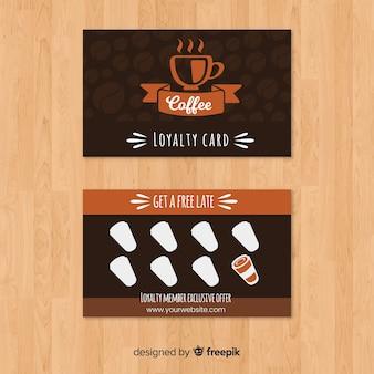 モダンスタイルのカフェ・ロイヤリティカード