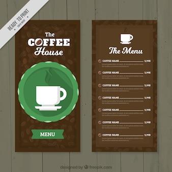 Cafe menu in retro style