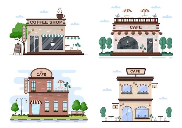 Кафе или кофейня иллюстрации