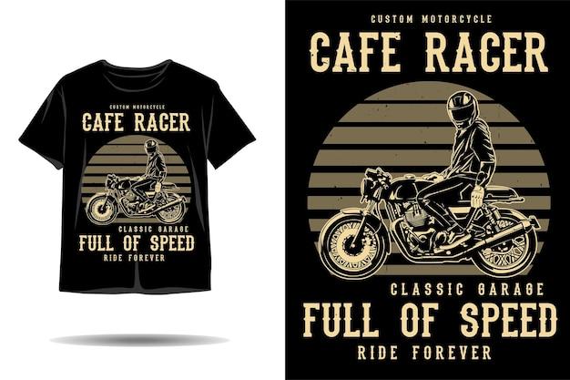 속도감 넘치는 실루엣 티셔츠 디자인의 카페레이서