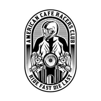 カフェレーサーオートバイヴィンテージバッジエンブレム