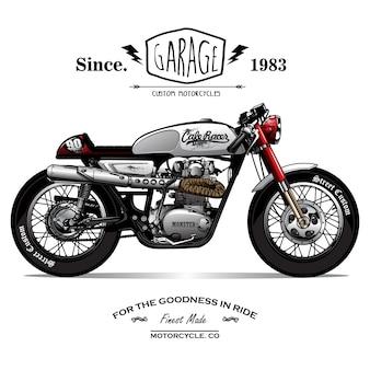 Винтаж cafe racer poster