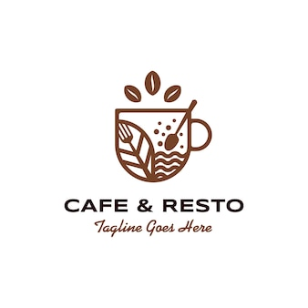 Cafe and restaurant logo