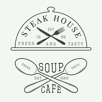 Cafe and steak house logo