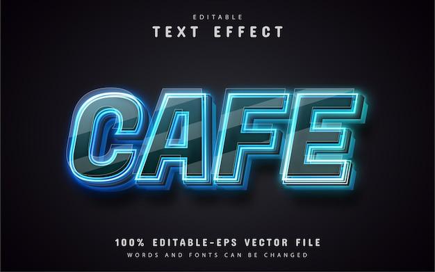 Текстовый эффект кафе в неоновом стиле
