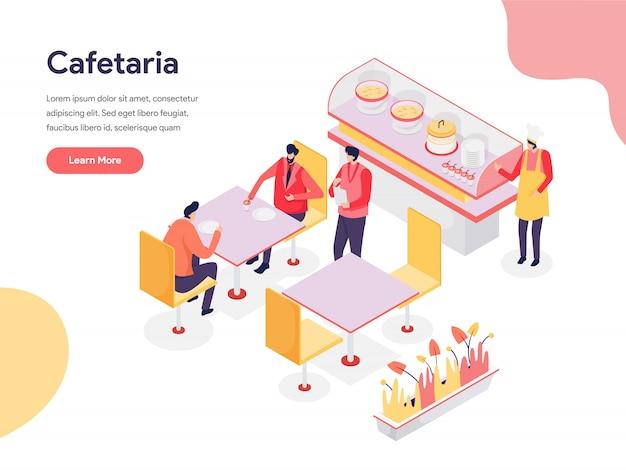 Cafetaria иллюстрация концепция