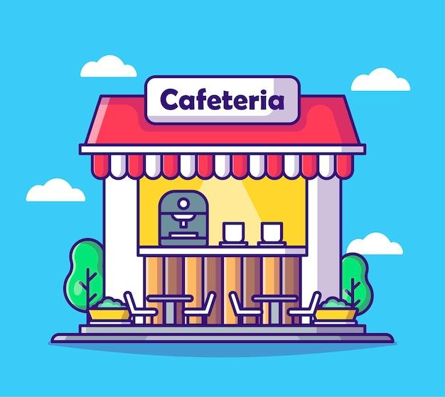 Кафетерий мультяшное здание