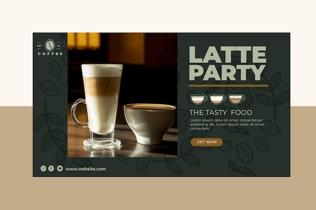 Cafeteria coffee shop banner template