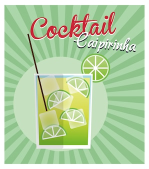 Caipirinha cocktail icon