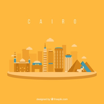 Sfondo skyline del cairo
