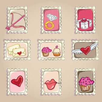 Cake  & cupcakes icons ( concepts labels & cards)