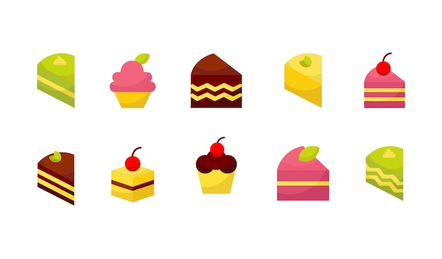 Cake icon collection