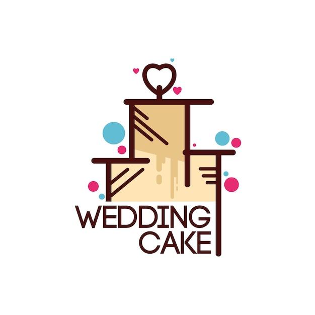 ケーキのロゴテンプレート