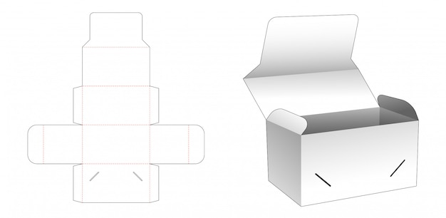 Cake packaging box die cut template design