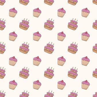 케이크 원활한 패턴