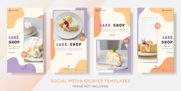 Cake shop banner collection stories template post