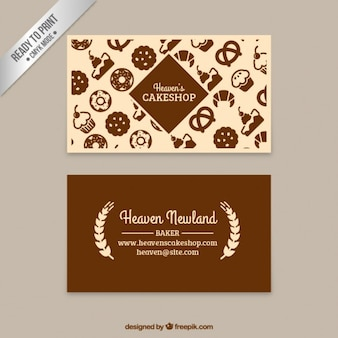 Cake shop business card