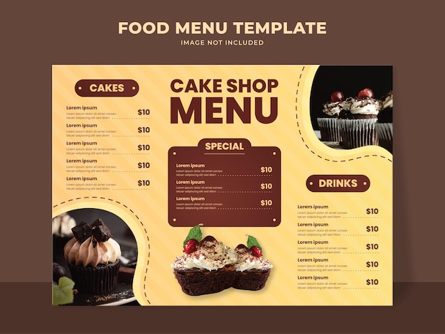 케이크 가게 메뉴 템플릿