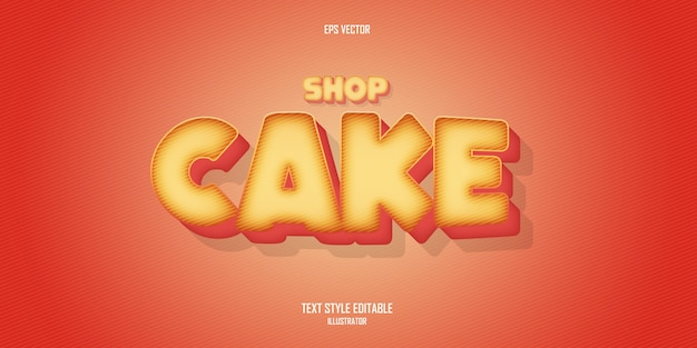 Cake shop   text style effect