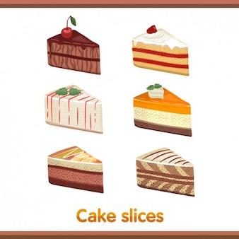 Торт ломтики набор