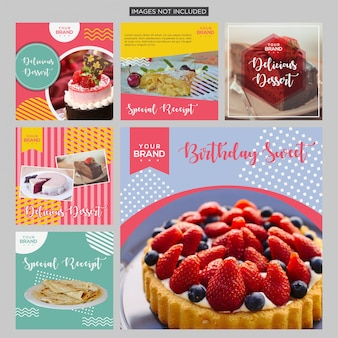Cake social media post design template
