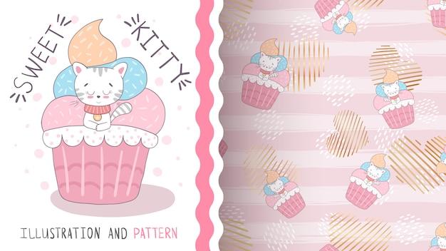 케이크 달콤한 케이크 원활한 패턴